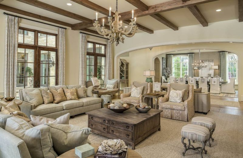 Interior design in the style of Provence